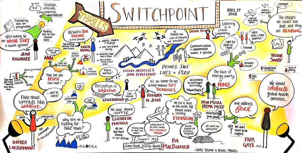 Visual example of Hope's graphic facilitation work.
