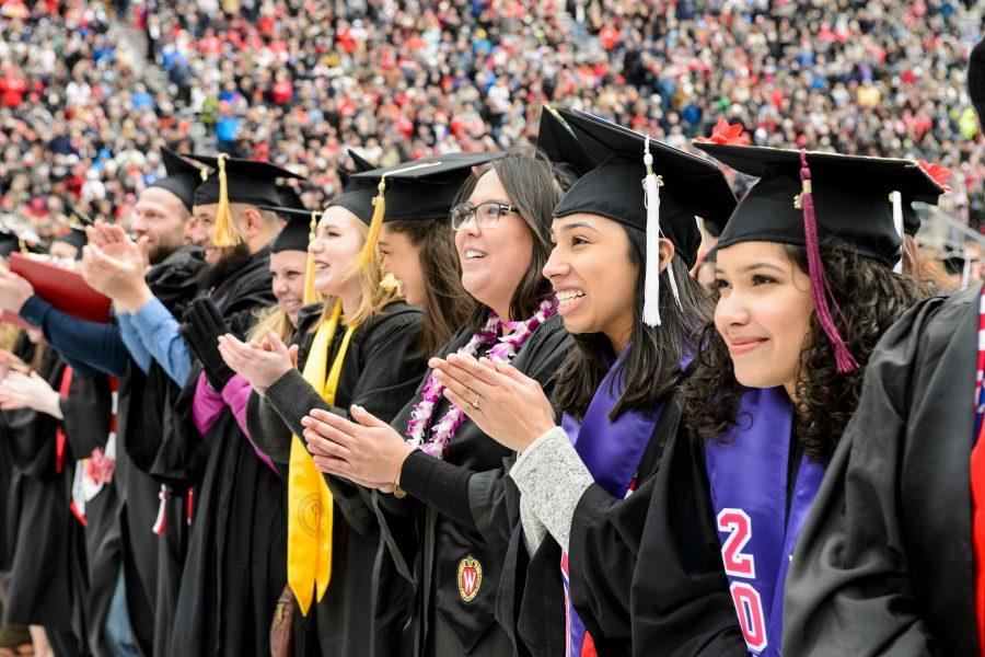 Photo of graduates at Camp Randall Stadium