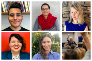 collage of 6 people: incoming faculty and lecturers
