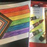 Open House LC watercolor - progress pride flag