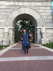 Caitlin Flynn graduation, Camp Randall