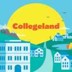 Collegeland Podcast graphic
