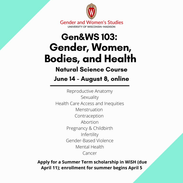 GWS 103 summer 2021 flyer