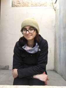 Rachel Litchman, Student Spotlight, seated.